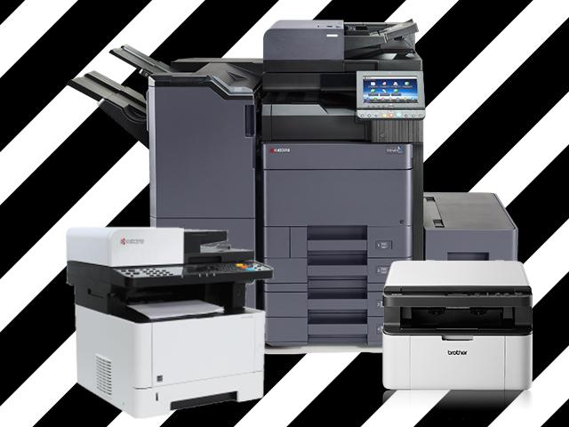 Juodai balti lazeriniai daugiafunkciniai spausdintuvai