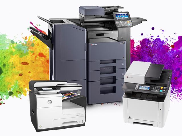 Spalvoti lazeriniai daugiafunkciniai spausdintuvai